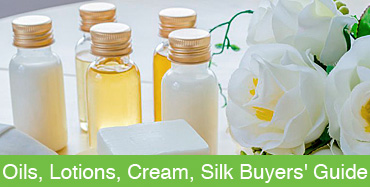 Oils, Lotions, Creams, Silk, Gels, Balm