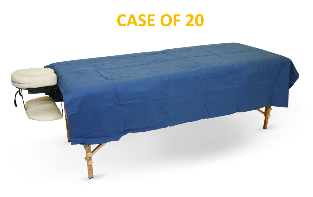BodyChoice Flannel Flat Top Sheet - Royal Blue - Case of 20