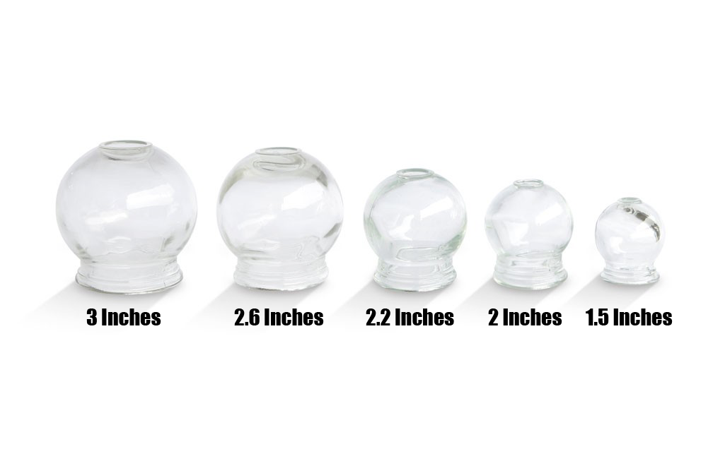 Glass Cupping Jars - 2.6in