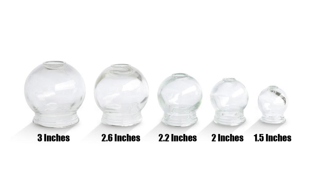 "Glass Cupping Jars - 2.6"" - Box of 18 pcs"