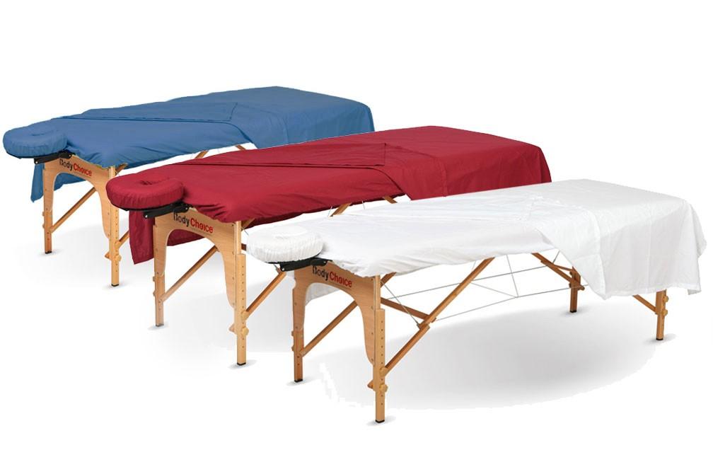 bodychoice 3 pc poly cotton sheet set massage sheets and massage